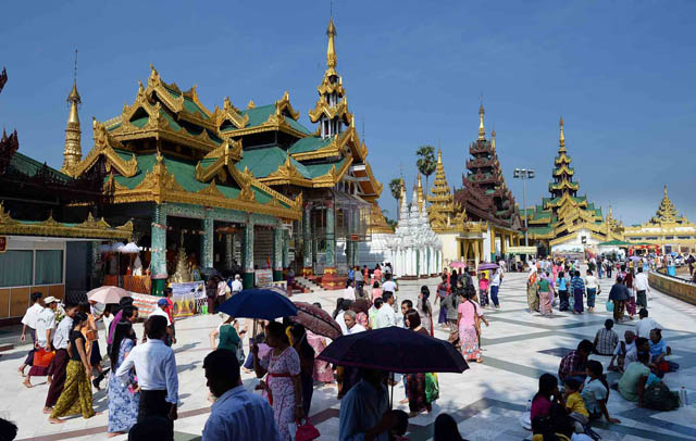Chùa Vàng Shwedagon ở Yangoon -21